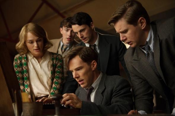 Keira Knightley, Matthew Beard, Matthew Goode, Benedict Cumberbatch, and Allen Leech star in THE IMITATION GAME.